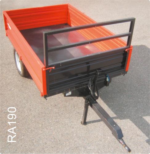 Remolque para minitractor kubota modelo RA190